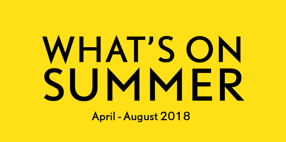 Announcing our Summer Season 2018